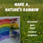 Nature's Rainbow – Free Activity Templates