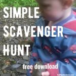 Simple Scavenger Hunt for Little Ones – free download