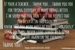 Shout out to teachers…