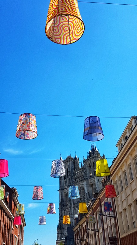 Amiens with kids lampshades