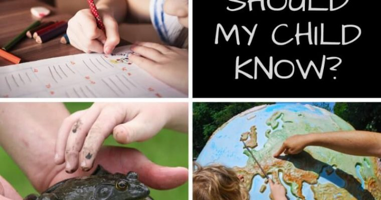 What Should My Child Know? Targets, activities and why it doesn't really matter that much!