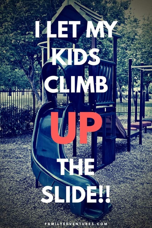 I let my child climb up the slide | childrens play | risky play