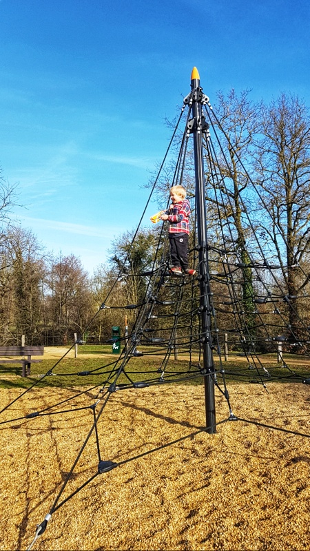 Playgrounds with kids