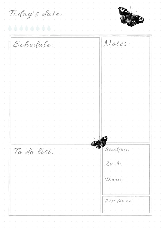 Bullet journal printable daily log