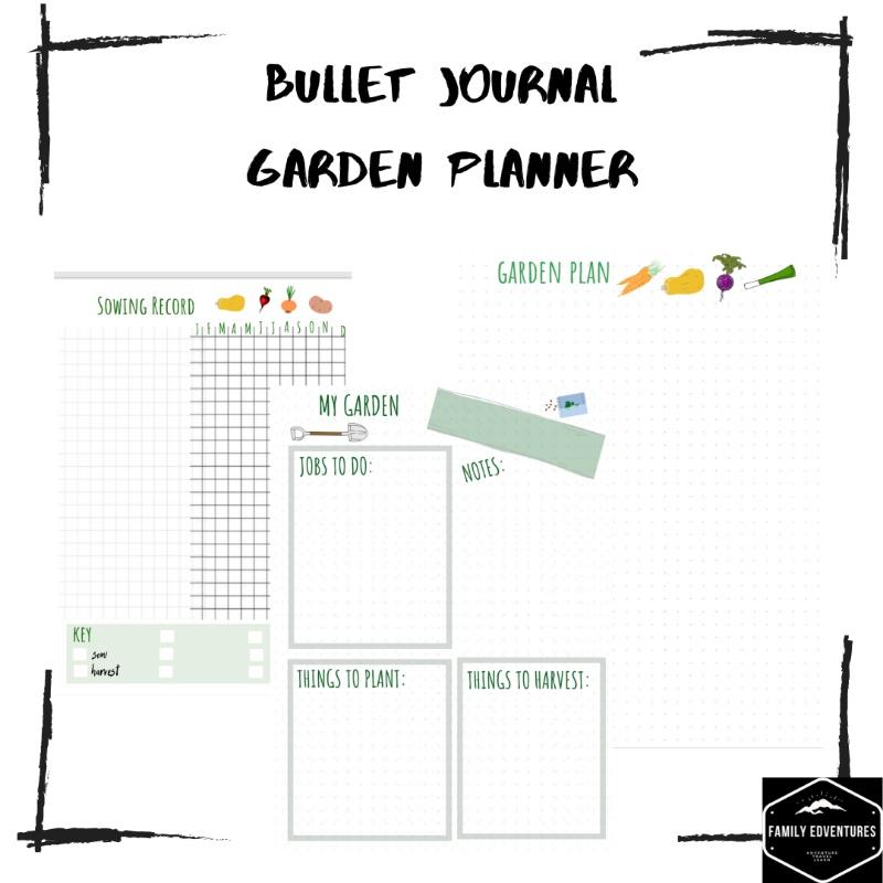free bullet journal printables garden plan