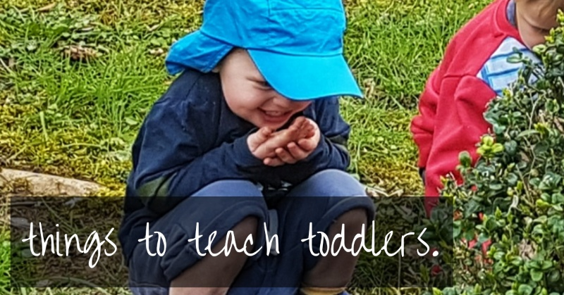 Things to teach toddlers