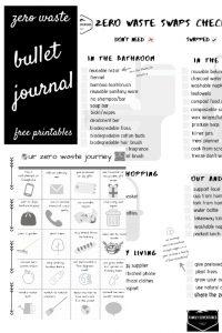 Free bullet journal printables zero waste