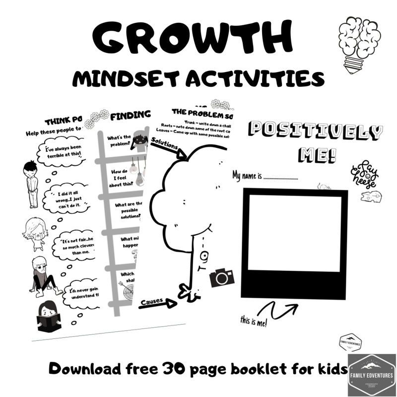 Growth mindset for kids activities