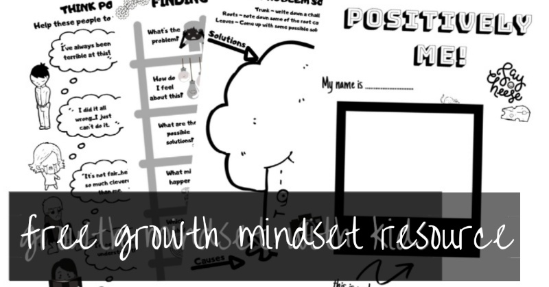 Growth Mindset Activities for Kids | Free 30 page booklet for kids