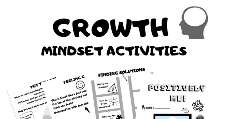 Growth Mindset Activities for Kids | Free 30 page printable booklet for kids