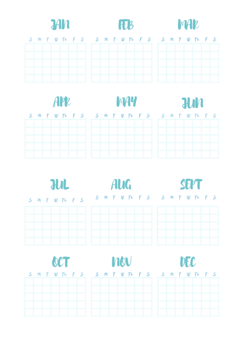 Bullet journal calander free download