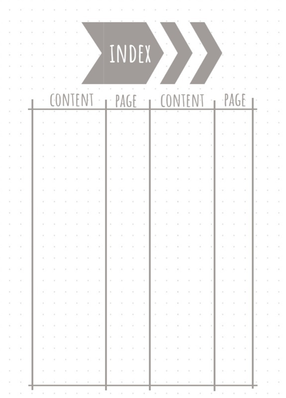 graphic relating to Printable Bullet Journal Paper identify Bullet magazine index absolutely free printables