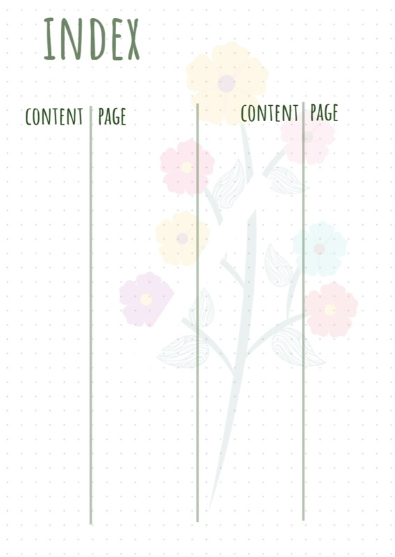 Bullet Journal index flower