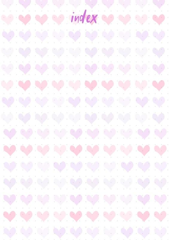 Bullet Journal index heart