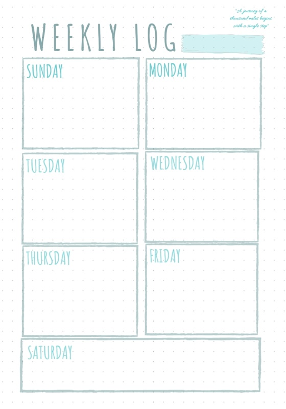 photo about Printable Bullet Journal Paper named Totally free printable bullet magazine internet pages - eye-catching, very simple Free of charge