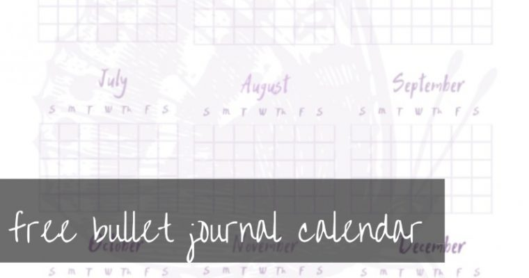 Bullet Journal Calendar Printables | free to download