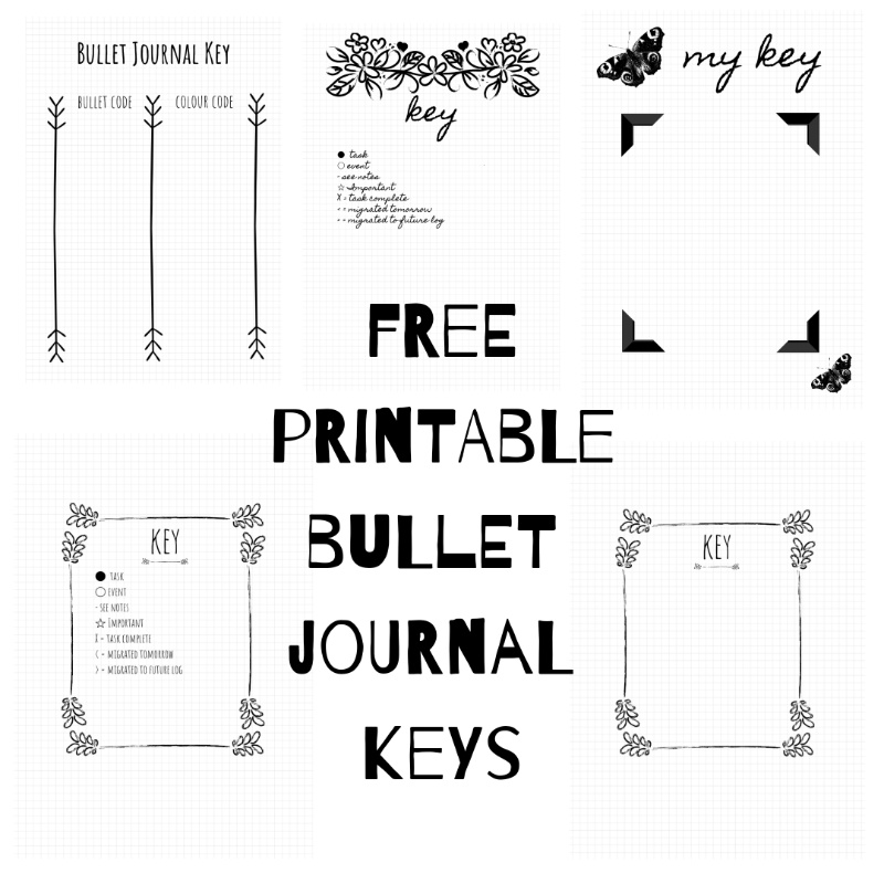 photo relating to Bullet Journal Key Printable named No cost printable bullet magazine internet pages - eye-catching, very simple Cost-free
