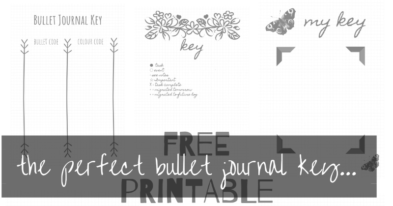Printable bullet journal key