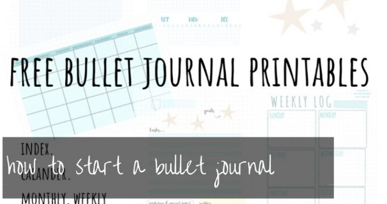 bullet journal setup | how to start a bullet journal the easy way (free 2019 bujo printables)