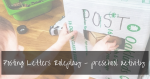 Post Office Role Play Printable | toddler writing activity