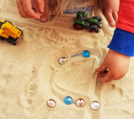 Toddler Activities letters cars