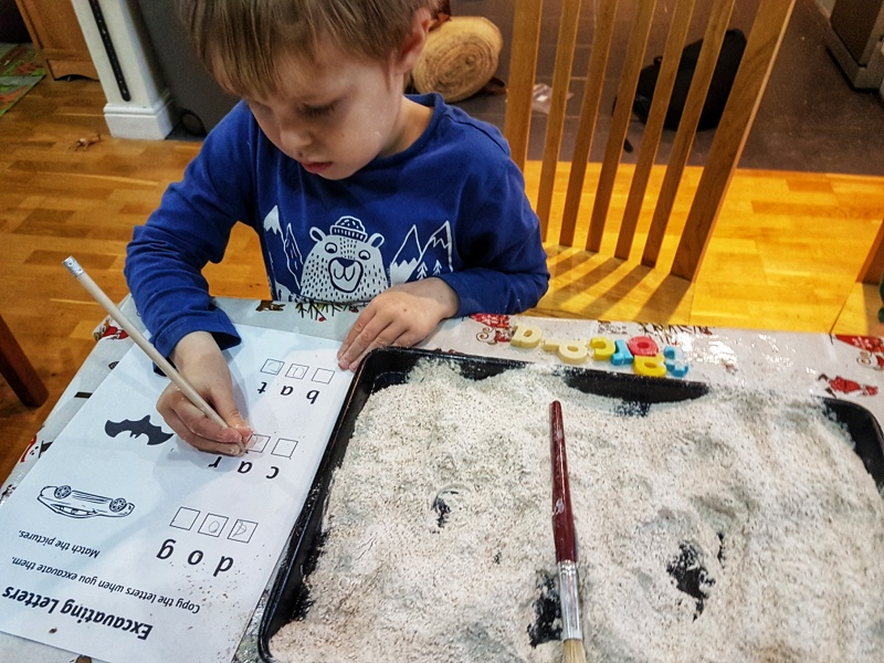 preschooler activities writing