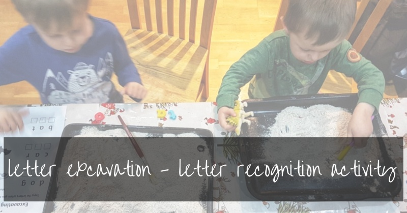 Letter Excavation | Fun Toddler Activity To Teach Letters
