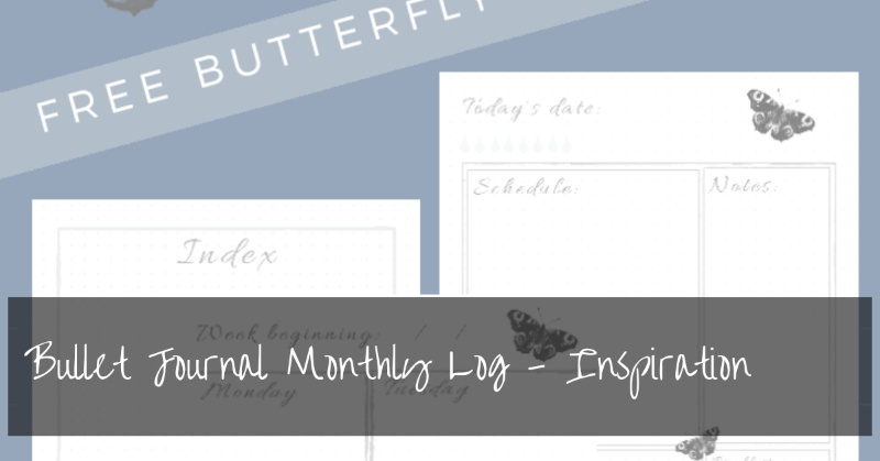 Bullet Journal Monthly Log Ideas | Inspiration and Free Printables