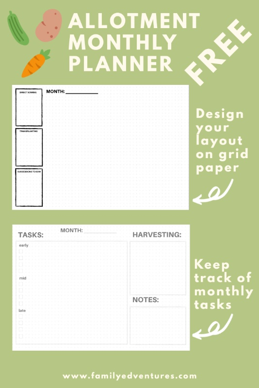 gardening planning printable allotment