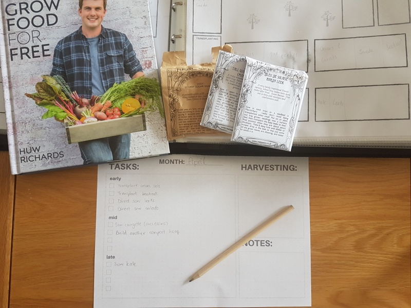 Monthly Garden Planning Pages allotment plan