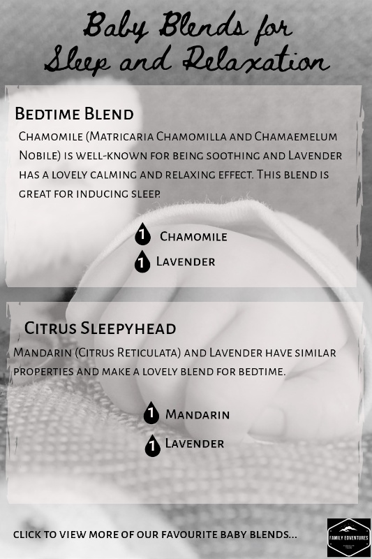 Diffusing essential oils around babies blends