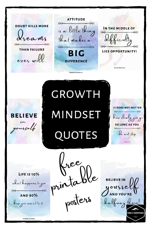 Growth Mindset quotes printable posters