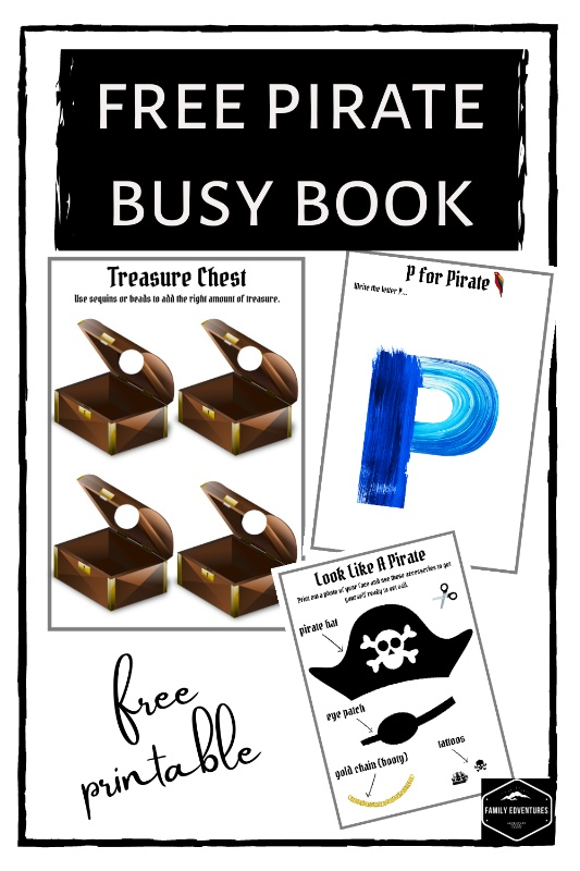 Pirate busy book free off printable
