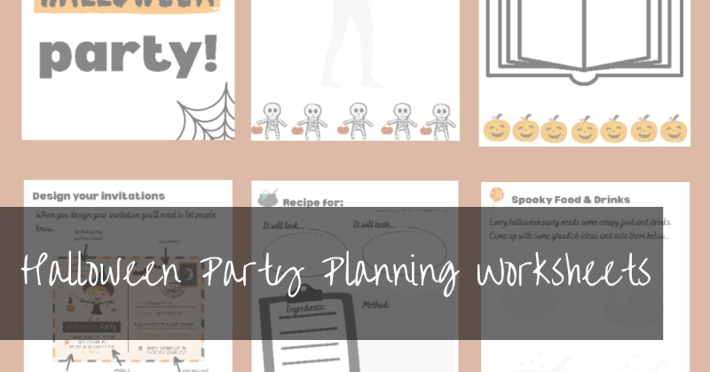 Free Halloween Party Planning Worksheets For Kids